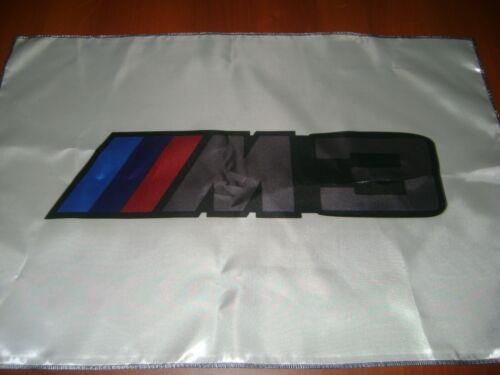 "BMW Logo 20x30"" Flag Banner DTM Show Garage Racing Shop Decor M3 M Power White"