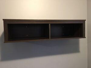 Floating wall mount storage shelf/cubby