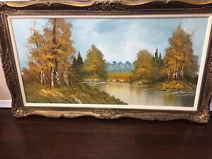 Artwork by G Whitman in a vintage wood frame
