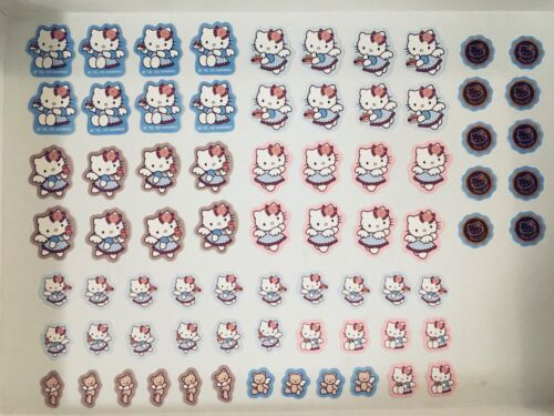Hello Kitty Sticker Pack - 74 stickers (Sanrio,Lolita,Kawaii,Angel Wings,Cakes)