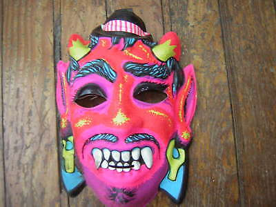 VINTAGE DEVIL HALLOWEEN MASK W/FANGS EARLY 1970'S BEN COOPER COLLEGEVILLE