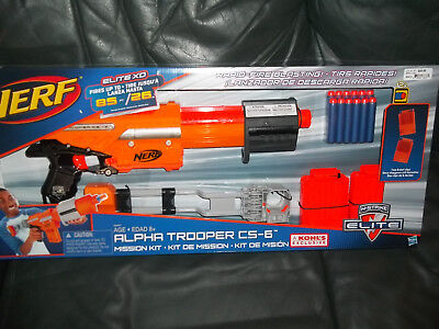 Nerf Alpha Trooper CS-6 Mission Kit   New in box N-strike