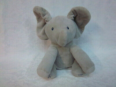 "Baby Gund Flappy the Elephant 13"" Talking Musical Plush Soft Toy Stuffed Animal"