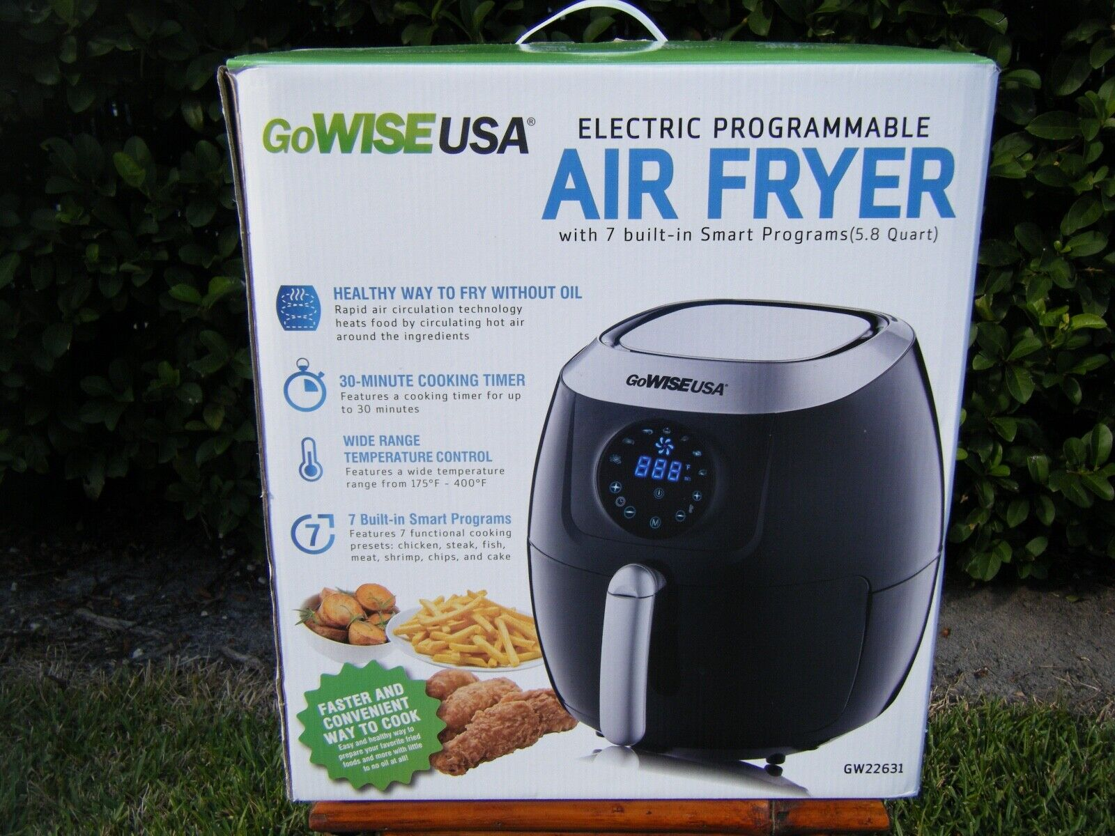 GoWISE USA GW22631 4th Generation XL Electric Air Fryer w To