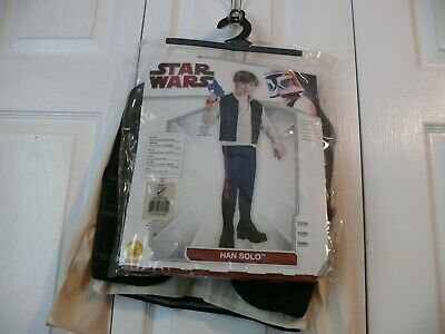 Han Solo Costume in Original Bag - S -  4-6 - Shirt with Attached Vest and - Han Solo Kostüm Shirt