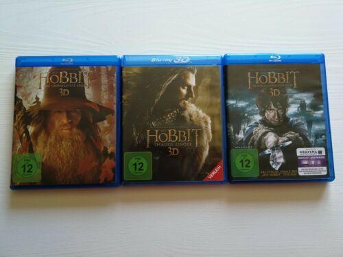 HOBBIT TRIOLOGIE (Blu Ray 3d) Alle 3 Filme der grandiosen Fantasieverfilmung