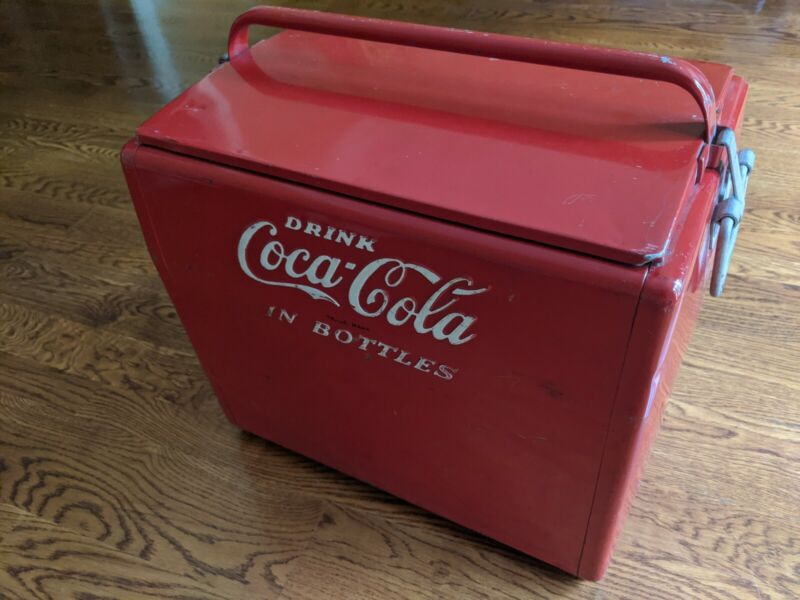 Cavalier Coca-Cola Carry-Cooler Sr. With Tray & Side Bottle Opener - Very Clean