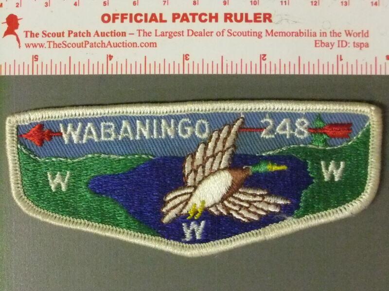 Boy Scout OA 248 Wabaningo Lodge Flap 7410JJ