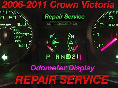 REPAIR SERVICE 2009 Ford Crown Victoria CVPI Gauge Cluster Odometer Display 09