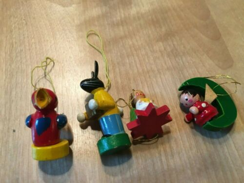 Assorted Vintage German wooden Christmas ornaments