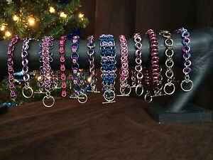Handmade chain maille bracelets