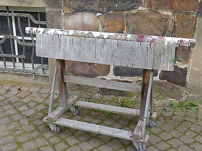 alter Gerberei Bock für Fell Ablage Rollbock Prügelbock Dekoration Folterkeller