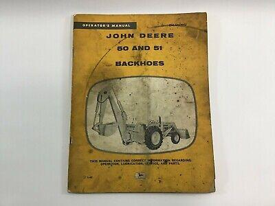 Original Vintage John Deere Operators Manual 50 And 51 Backhoes Wins2