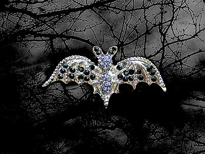 HALLOWEEN BLACK BAT WINGS GIRL WOMAN MAN PIN BROOCH~ADULT COSTUME ACCESSORY  - Halloween Bat Wings