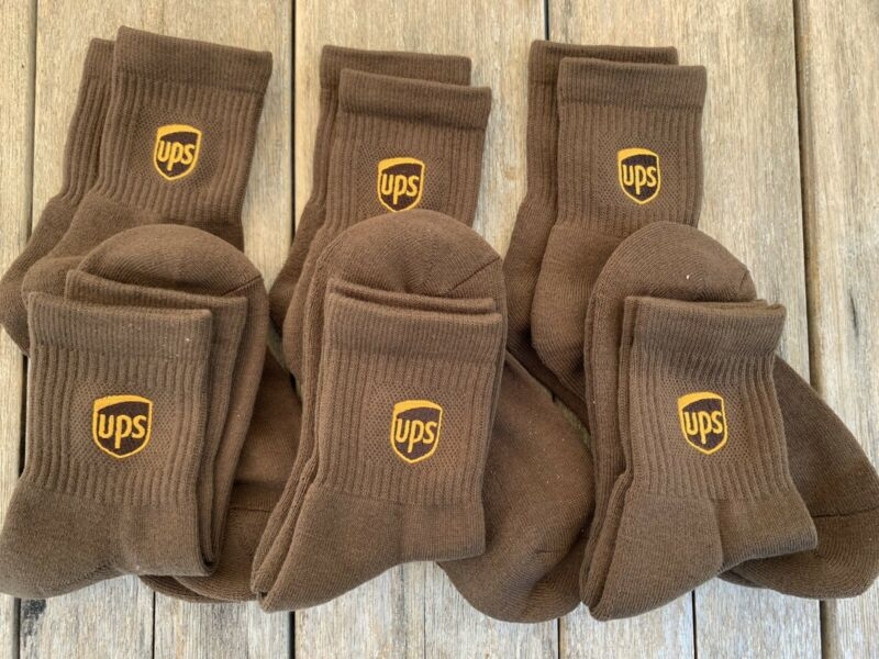 Ups Socks 6 Pairs Anklet Length Brand New Size M 8-10