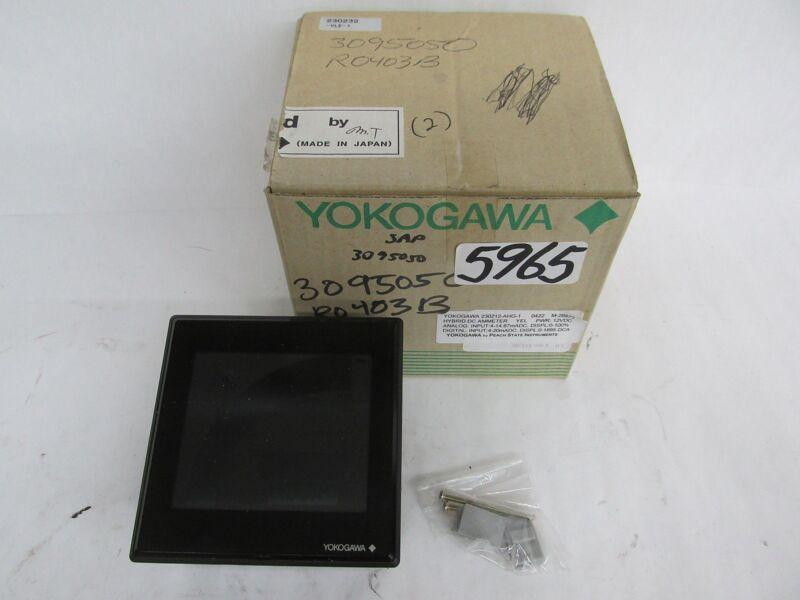 Yokagawa Hybrid Dc Ammeter Yel - 230212-Ahg-1 /  0422 M-28873 / Pwr 12 Vdc - New