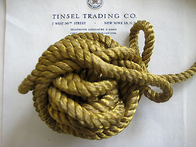 "Vintage Antique French Gold Metallic Rope Cord Trim 3/8"" Pillow"