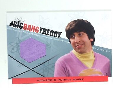 Simon Helberg Big Bang Wardrobe Card  Coa   Mystery Gift  Purple Shirt