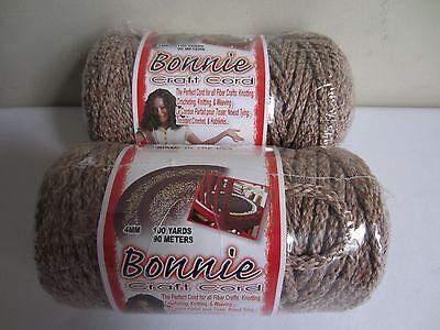 Lot of 2 rolls Pottery 4mm Bonnie Braid Braided Macrame Craft Cord 200yds