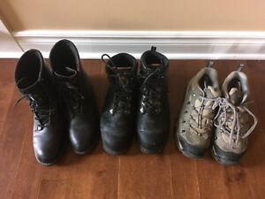 3 paires bottes et souliers à cap d'acier ou vendu séparément