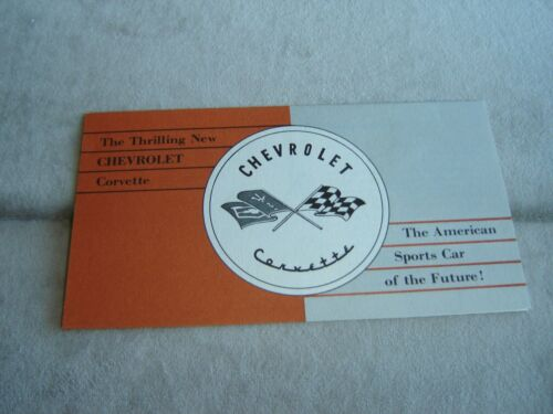 1953  CORVETTE ORIGINAL SALES BROCHURE
