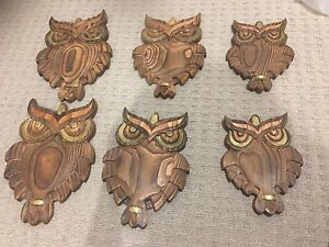 6 wooden Owls Cranbourne North Casey Area Preview