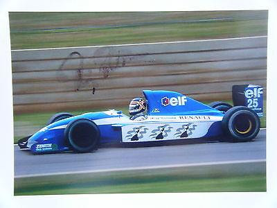 Thierry Boutsen Ligier Renault Gitanes Blondes JS 37 signed 1992 F1 Kodak Print