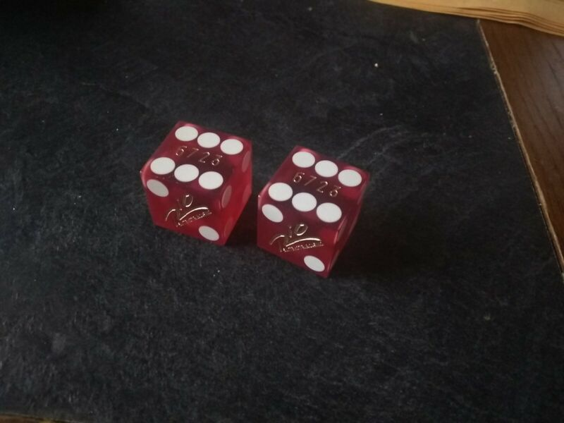 Black Friday Pair of Official Retired Dice from the Rio Casino Matching Numbers