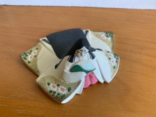 Kyoto Ceramics/Pottery Kimekomi-Ningyo Lady Figurine