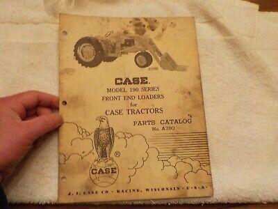 No. Cse Case Model 190 Series Front End Loaders For Case Tractors Parts Cat. No.