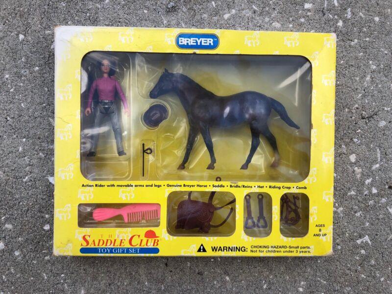 New NIB Breyer Quarter Horse Paddock Pal Saddle Club Set Chocolate Jeannie #1026