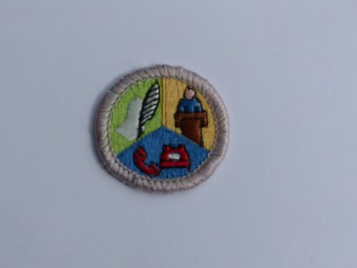Used COMMUNICATIONS White Border (Required for Eagle) Boy Scout BSA Merit Badge