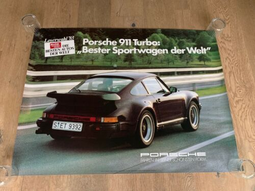 Rare Porsche 911 930 turbo showroom poster from dealership 1980
