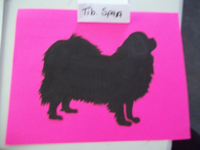 Stacked Tibetan Spaniel Car Magnet Hand Cut and Painted U pick style color