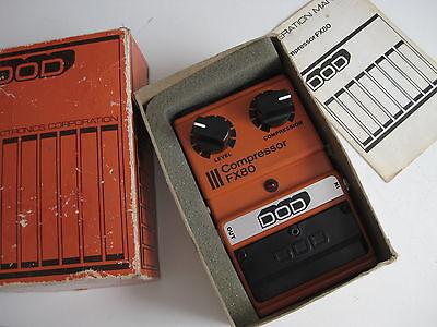 Vintage DOD FX80 Compressor Guitar Effect Pedal in Box