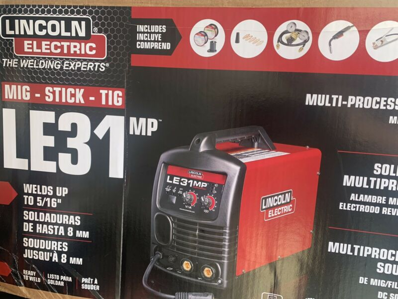 LINCOLN ELECTRIC LE31MP MIG-STICK-TIG MULTI PROCESS WELDER(NEW)120V-120A K3461-1