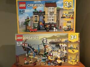 Lego Creator 3-in-1 31065 Townhouse 31084 Pirate Rollercoaster BNISB