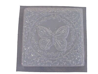 Square Butterfly Stepping Stone Plaster or Concrete Mold 1067 Moldcreations Butterfly Stepping Stone