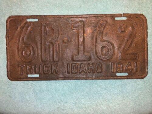IDAHO 1941 TRUCK LICENSE PLATE WWII WW2 PICKUP TAG WAR TIME RARE AUTOMOBILE FARM