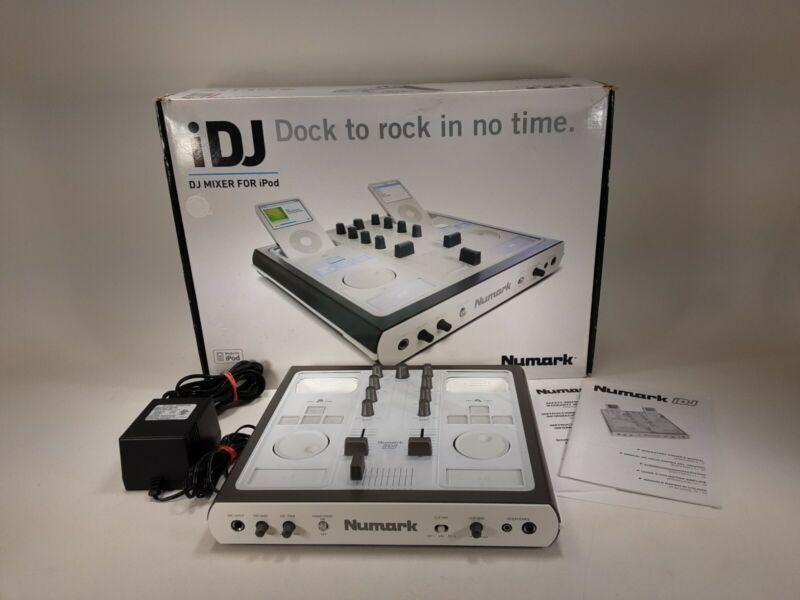 NUMARK IDJ Mixing Console Audio Turntable for ipod mobile DJ Tested.       (F4)