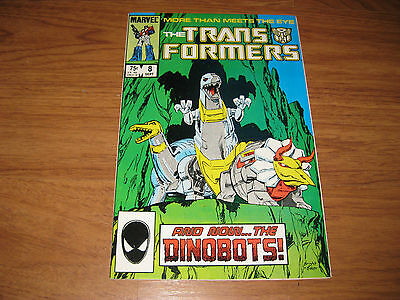 The Transformers #8 (Sep 1985, Marvel) 1st app Dinobots