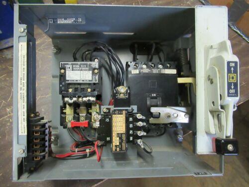 "SQUARE D Model 4, SIZE 1 STARTER, 30 Amp FAL36030 Breaker, 12"", MCC Bucket-MC129"