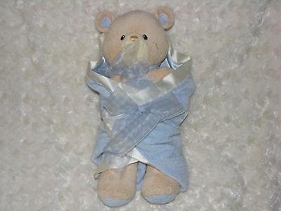 BABY GUND BEAR TALES #58610 BLUE SWADDLED BEAR CUB 12