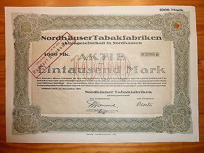 D: Nordhäuser Tabakfabriken, 1000 Mark, Nordhausen, 1921, TABAK*