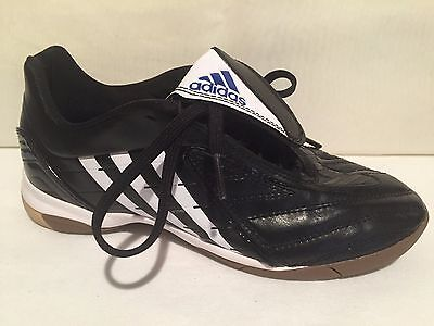 online store e37ca e7493 ADIDAS 662177 BLACK WHITE ATHLETIC INDOOR SOCCER SHOES KIDS YOUTH SZ 4.5