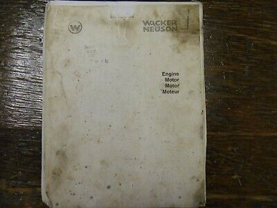 Wacker Neuson Dpu5045h Plate Compactor Engine Shop Service Repair Manual