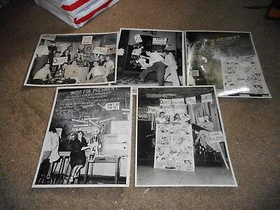 (MISC-3423) 1952 POGO for PRESIDENT lot of 5 8x10 photos plus 3 extra photos