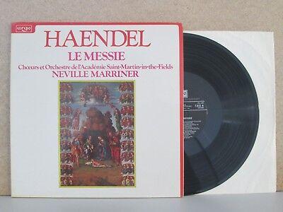 ARGO 7672- HANDEL- The Messiah La Messie Choruses LP (Marriner/ASMF) Ameling etc