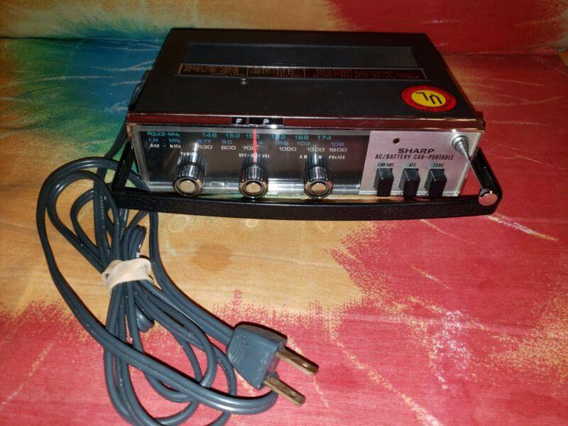Vintage Sharp Car Portable Radio Scanner Police.