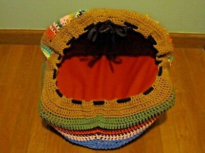 COLORFUL CROCHET HANDMADE CAT / DOG  PET CAVE BED
